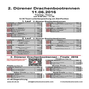 Ergebnisse Drachenbootrennen Dueren 2016