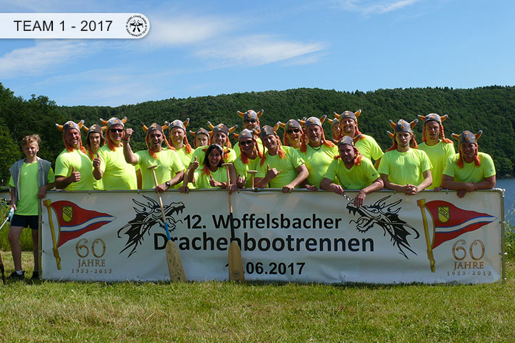 Drachenboot Dueren Team 1 Rursee 2017