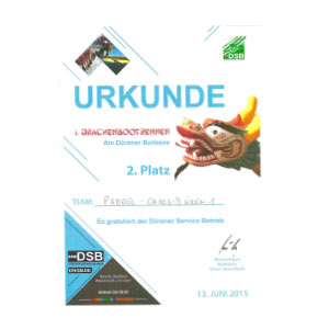 Downloads Urkunde Drachenbootrennen Dueren Paddel Chaos Dueren