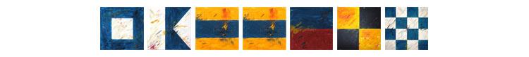 Flaggenalphabet Paddeln
