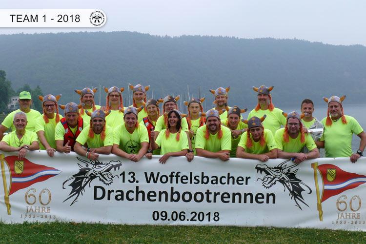Drachenboot Dueren Team 1 Rursee 2018