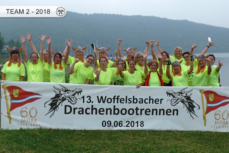 Drachenboot Dueren Team 2 Rursee 2018