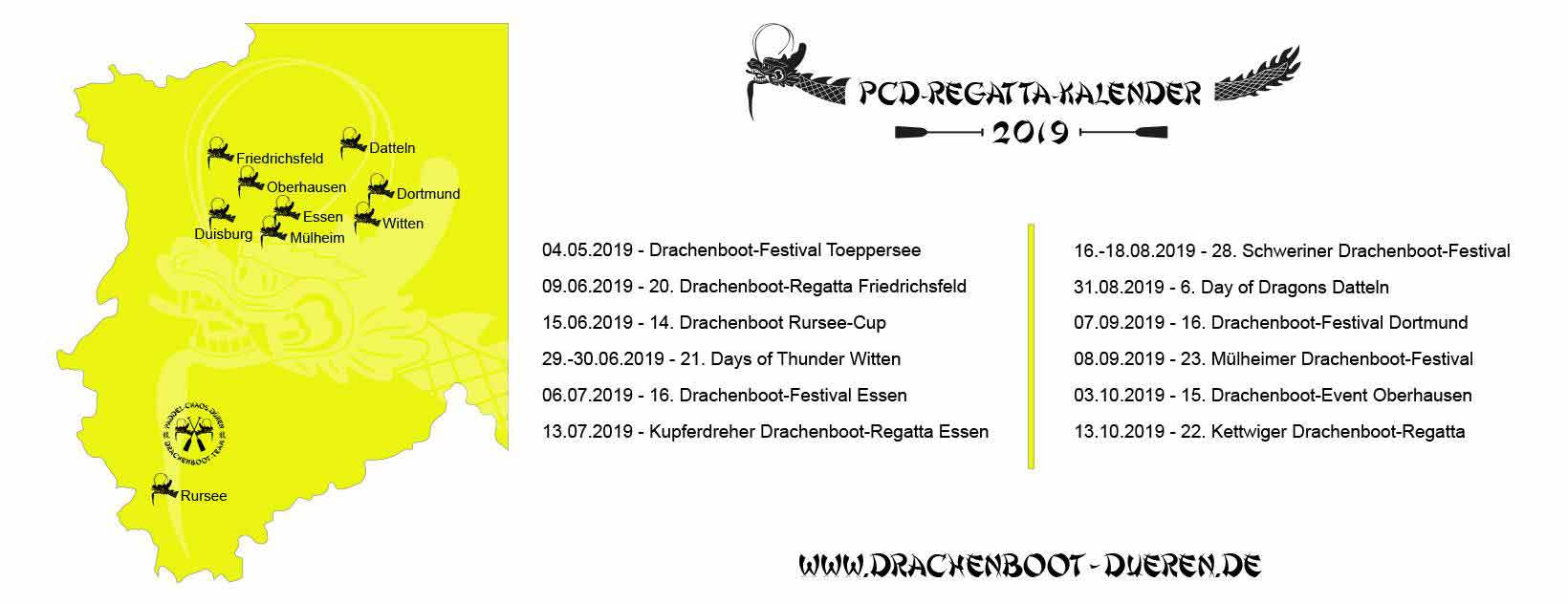 PCD Drachenboot Events 2019