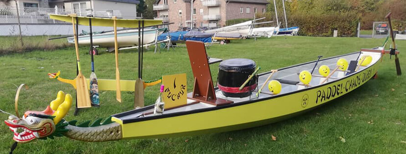 Fuchur Drachenbootstaufe Paddel-Chaos-Dueren